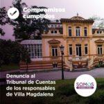 Denuncia al Tribunal de Cuentas de los responsables de Villa Magdalena