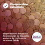 Desprivatización del servicio de recaudación de impuestos: un ahorro de 5 millones de euros para Oviedo
