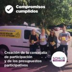 Creación de la concejaría de participación y de los presupuestos participativos