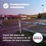 Cierre del hípico del Asturcón: un ahorro de 1.2 millones anuales