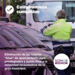 Eliminación de las tarjetas «blue» de aparcamiento para privilegiados