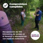 Recuperación de 100 kilómetros de sendas en el Naranco y reforestación con especies autóctonas