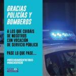 Gracias Policías y Bomberos